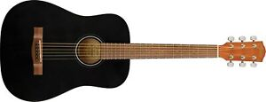 Fender FA-15 3/4 Acoustic Guitar With Gig Bag Limited Edition Black