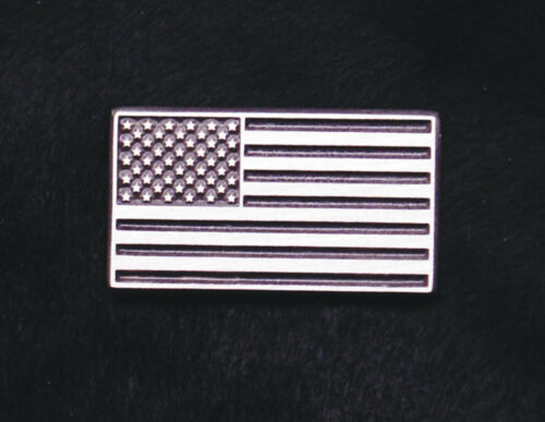 Empire Pewter Greyscale American Flag Pin
