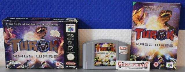 - TUROK RAGE WARS Uncut UK Nintendo n64g neuf dans sa boîte box instructions PAL 3455196419216