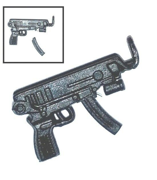 """Skorpion Machine Pistol w/ Ammo Mag -1:18 Scale Weapon for 3-3/4"""" Action Figures"""