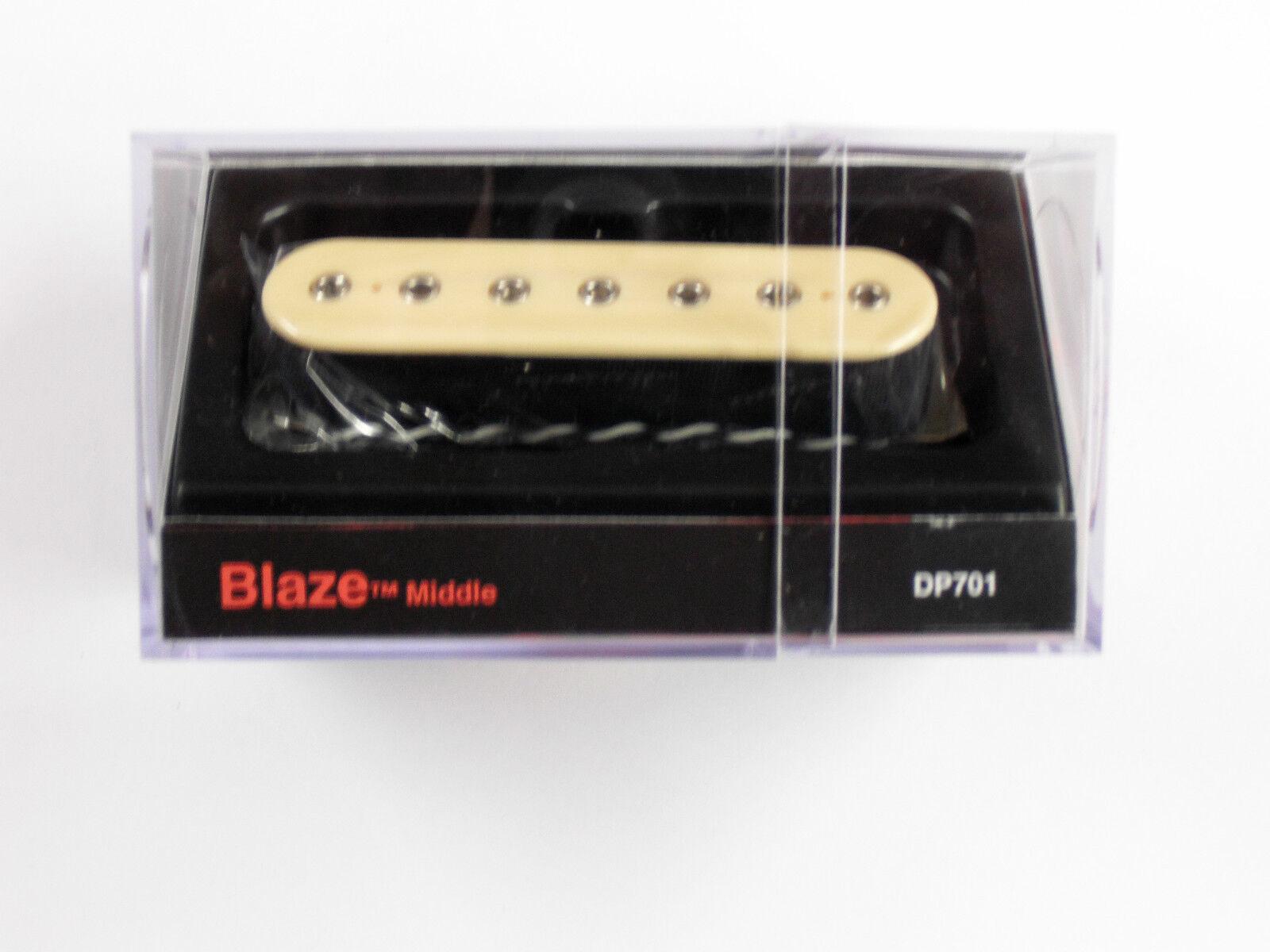 DiMarzio Blaze 7 String Middle Creme W Chrome Poles DP 701