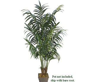 TWO-Kentia-Palm-8-5-039-7-039-Artificial-Tree-Extra-Full