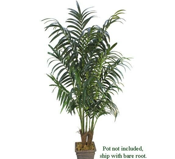 TWO Kentia Palm 8.5' + 7' Artificial Tree Extra Full