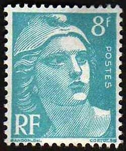 FRANCE-TIMBRE-STAMP-N-810-034-MARIANNE-DE-GANDON-8F-034-NEUF-X-TB