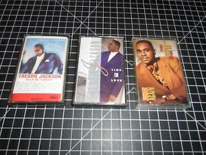 3-Classic-Funk-amp-Soul-Music-Vintage-Audio-Cassette-Tapes-By-Freddie-Jackson