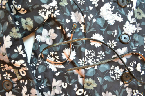 mit Marc 6 Trenchcoat 1480 Blumendruck Größe Seide Nwt Jacobs aus waYqnWvF