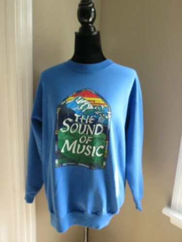 'THE SOUND OF MUSIC' BLUE ADULT SWEATSHIRT-STAINED