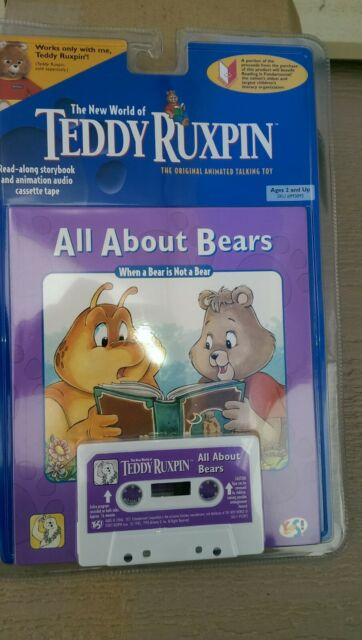 ENT TEDDY RUXPIN NEW 1998 YES UNCLE GRUBBY BOOK /& CASSETTE TAPE