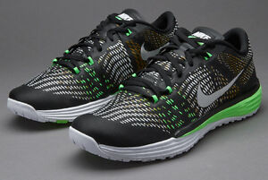 14f58678f039 NIKE LUNAR CALDRA SHOES MEN 803879-013 BLACK WHITE GREEN 9.5 E106