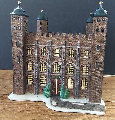 Dept 56 Tower of London 58500 Historical Landmark White Tower Lighted 1997 Birds