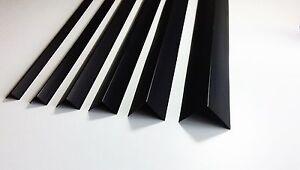 black plastic pvc corner 90 degree angle trim 2 5 meters. Black Bedroom Furniture Sets. Home Design Ideas
