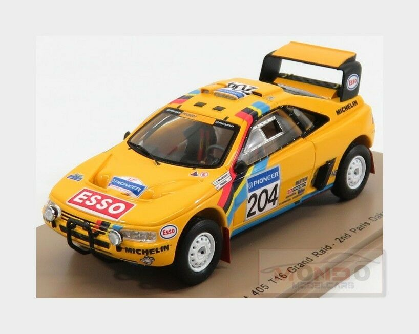 Peugeot 405 T16 Grand Raid Nd Rally Parigi Dakar 1990 SPARK 1 43 S5625 Mod