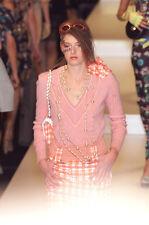Chanel 01P  Spring 2001  Peach Salmon 100% Cashmere Pullover Sweater 44