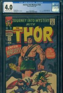 Rare-Error-JOURNEY-INTO-MYSTERY-124-CGC-4-0-VG-034-RED-HEAD-034-THOR-Marvel-Comics