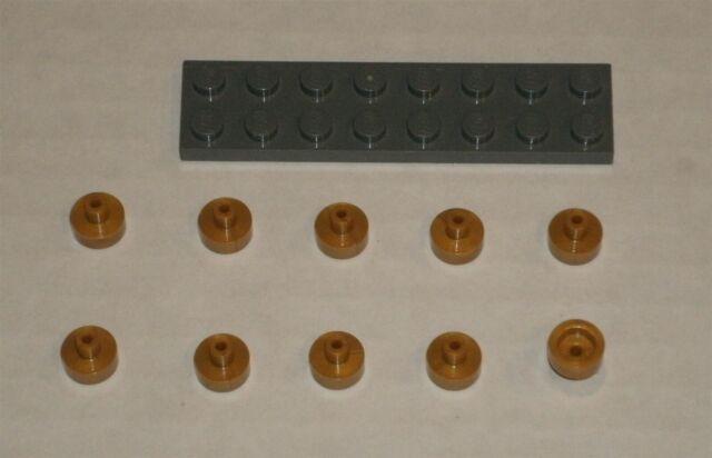 Tile 1x1 Bar /& Pin Holder NEUF NEW 4 x LEGO 20482 Plaque Noyau or, pearl gold