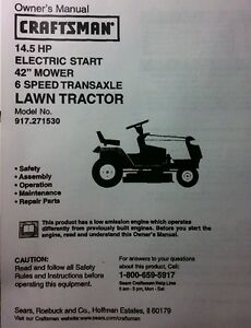 Details about Sears Craftsman 14 5 HP Lawn Riding Tractor & 42