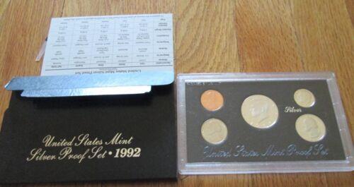 Mint Box and COA 1992 1993 1994 1995 1996 1997 1998 S Silver Proof Set U.S