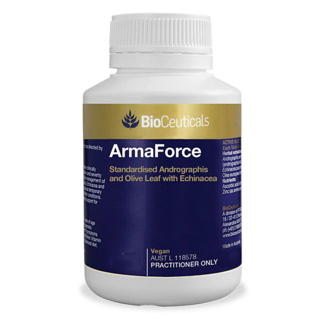 BioCeuticals ArmaForce 60 Tablets Immune Support Common Cold Relief Vegan