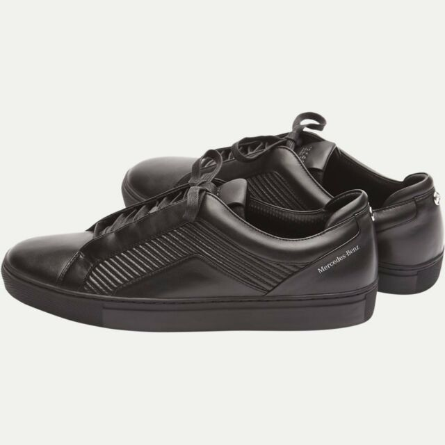 0bc47a001dc Hugo Boss MERCEDES F1 Black Leather BOOTS Shoes Trainers SNEAKERS 8 ...