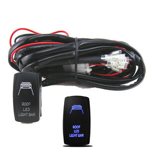 300W Car 4X4 4WD 5 Pin Roof LED Light Rocker Switch Wiring
