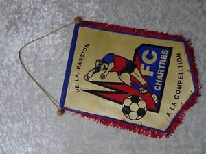 FC-Chartres-Futbol-Banderin-Banderin-Vintage