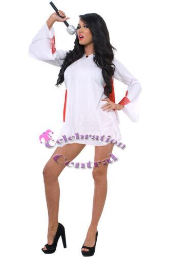 VEGAS ROCKSTAR LADIES FANCY DRESS COSTUME SIZE 12-14