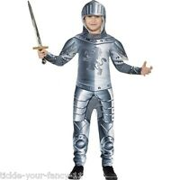 Kids Boys Medieval Crusader Knight King George Arthur Fancy Dress Outfit Costume