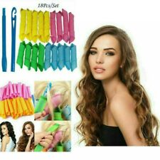 18Pcs/Set DIY MixedHair Curlers, Twist Spiral Rollers Styling Magic Tool & Hook