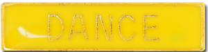 Dance Bar Pin Badge in Yellow Enamel