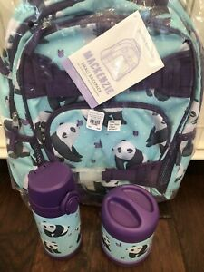 Pottery Barn Kids Small Panda Backpack Water Bottle
