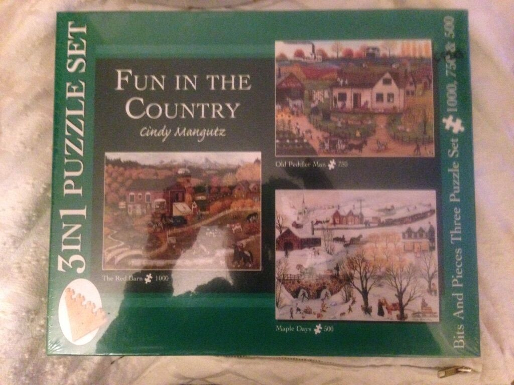 3 en 1 Puzzle Set  Fun in the country