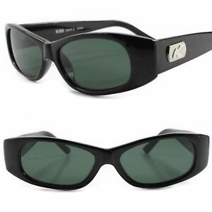 96f5788a7b1 Classic Genuine Vintage 80s 90s Deadstock Green Lens Black Rectangle ...