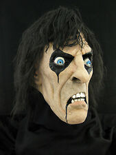 Alice Cooper Halloween Horror Haunt Latex Mask Prop, NEW