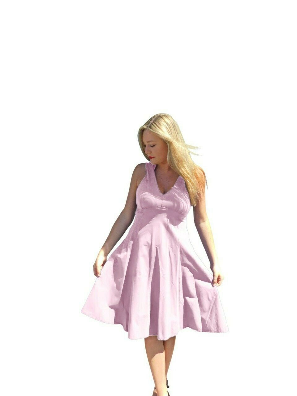 Luna Luz Sun Dress5547Pale Pink- Sizes Small and Large