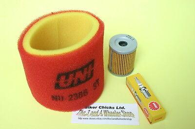 KAWASAKI  03-11  KLF 250  Bayou Air filter Oil Filter /& Spark Plug  KLF250
