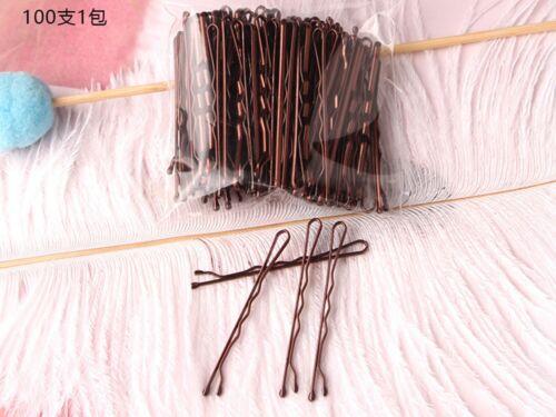 Métal 100pcs Bobby épingle à cheveux Clips Barrette 50 mm Balle Tips Salon Style Bob Pins