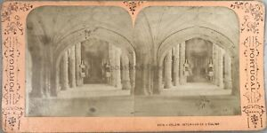 Portogallo Belem Interno Da L Chiesa Foto Jean Andrieu Stereo Vintage Albumina