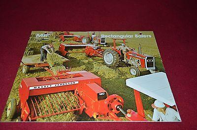 Massey Ferguson 120 124 126 128 130 Baler Dealer/'s Brochure DCPA2