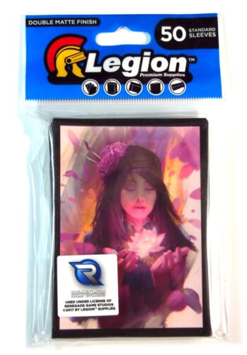 Legion Standard Deck Protector, Lotus , Fit Mtg & Pokemon New (50)