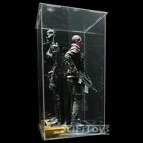 1 6 sixth scale Figure Clear display case box UV UV UV predection Hot toys sideshow 306fbb