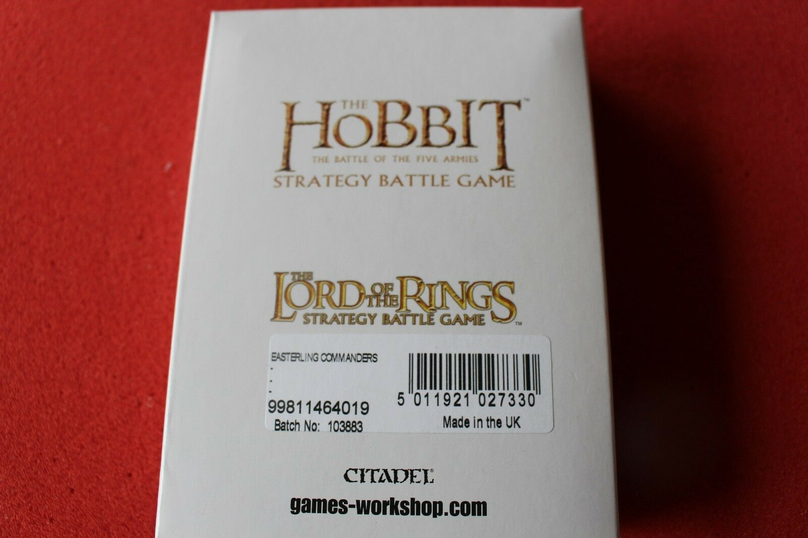 Games Workshop LoTR Easterling Commanders Lord of the Rings New 4 Resin Figures