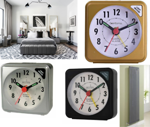 Acctim INGOT Alarm Clock In Metallic Silver 12 MONTHS WARRANTY