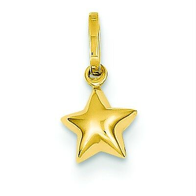 925 Sterling Silver 3-D Star Hollow /& Polished Charm Pendant 23mm x 16mm