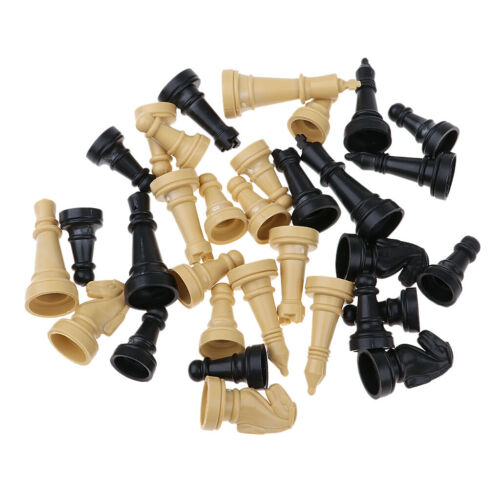 """96Pcs 2/"""" Wooden Chess Pieces Checker Chessman Pawns Board Game Accessory"""