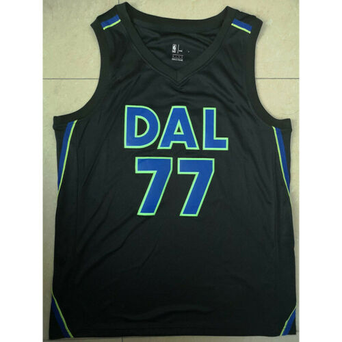 Luka Doncic #77 Dallas Mavericks Basketball Jerseys Stitched City Edition Black