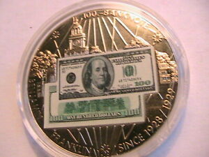 2001-American-Mint-100-Ben-Franklin-Medal-USA-Banknotes-Limited-Edition-Proofs