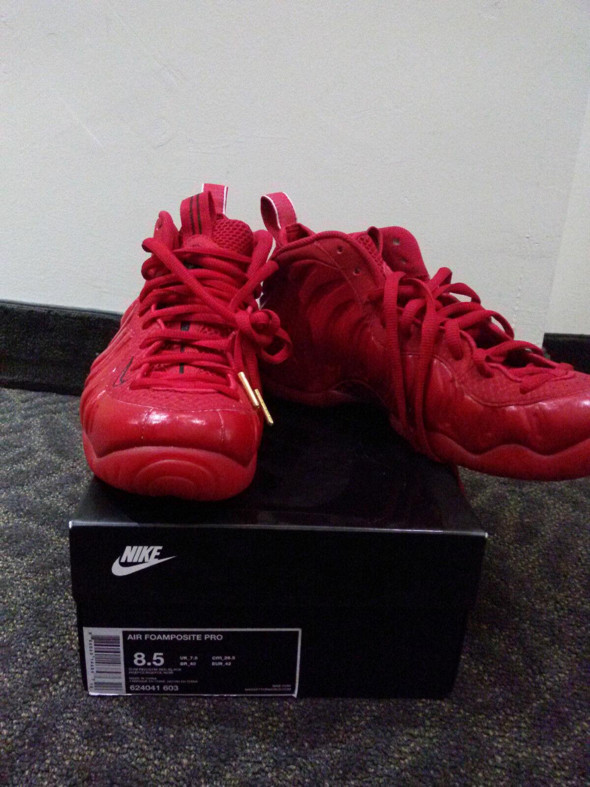Nike air foamposite una palestra tripla (ottobre rosso, nero yeezy s Uomo dimensioni