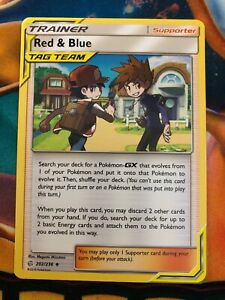 Red /& Blue 202//236 Reverse Holo Foil Pokemon COSMIC ECLIPSE