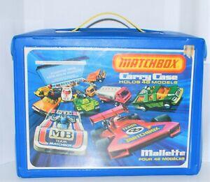 Vintage-MATCHBOX-1976-48-Car-CARRY-CASE-with-Inserts-EXCELLENT-BI-LINGUAL