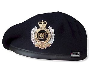 ROYAL-ENGINEERS-NAVY-BLUE-BERET-or-BERET-amp-OFFICIAL-RE-CAP-BADGE-SIZES-52-62cm
